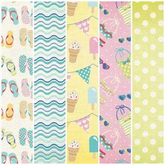 Free patterned paper pack from Papercraft Inspirations – Summer Beach.