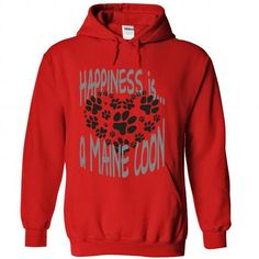 HAPPINESS IS A MAINE COON T-Shirts, Hoodies, Sweatshirts, Tee Shirts (42.99$ ==► Shopping Now!)