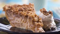 Apple, Pear Crumb Pie. This pie uses Granny Smith apples and ripe pears.