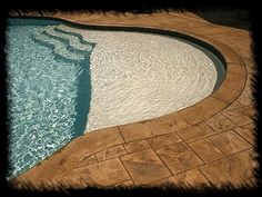 tanning ledge!--- this is so perfect...when I one day have my on pool a tanning ledge will be included