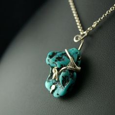 Calypso - Sterling silver and turquoise necklace