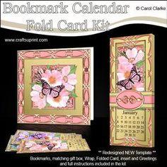 Butterfly Bouquet Bookmark Calendar Fold Card Kit