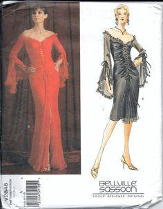 Sexy Vogue V2848 Designer BELLVILLE SASSOON by VintagePatternStore