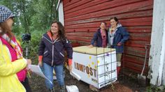 Frysbox som komposteringslåda