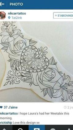Stomach Tattoos Women, Chest Tattoos For Women, Chest Piece Tattoos, Pieces Tattoo, Tattoo Women, Chest Tattoo Female Upper, Tattoos Skull, Animal Tattoos, Body Art Tattoos