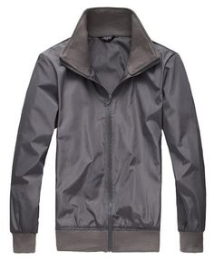 New Style Fashion Casual Men Long Sleeve Stand Collar Grey Blends Jacket Coat M/L/XL @X611322g