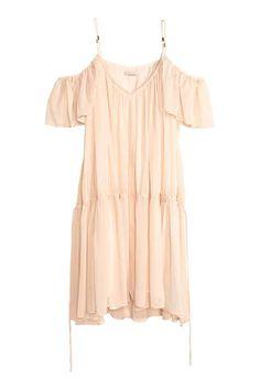 Платье с открытыми плечами | H&M