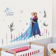 Wall Stickers Australia, Wall Stickers Uk, Frozen Princess, Anna Frozen, Disney Frozen, Frozen 2 Wallpaper, Frozen Cartoon, Living Room Playroom
