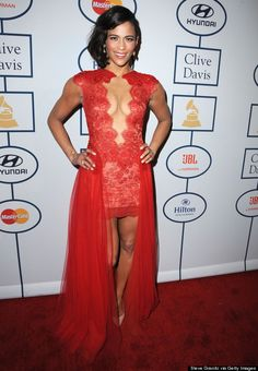 Paula Patton wows in red