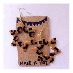 Earrings perler beads by makeadot