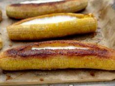 Receta Postre : Plátanos al horno rellenos por Fabiolita