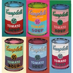Andy Warhol's Campbell's Soup by acantha on Polyvore featuring polyvore and art