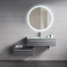 OVE Decors Aries LED Mirror DL 50 White Glass