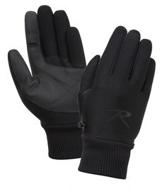 3cb35dc4713 Military Waterproof Lined Four Way Stretch Black Glove