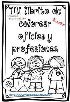 Mi librito de colorear oficios y profesiones (1) Preschool Spanish, Elementary Spanish, Spanish Activities, Teaching Spanish, Preschool Activities, Spanish Class, Community Workers, My Community, Communities Unit