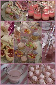 """A Fairy Tea Party""  What a fabulous party idea for your little princess or incorporate some of the menu idea's into a party for you and your friends!  Love the finger food concept and pink color theme."