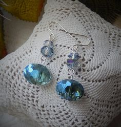 NWOT OOAK Handcrafted Sterling Silver Blue Faceted by bijoullery