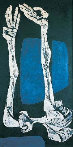 Las Manos by Oswaldo Guayasamin. Expressionism. figurative