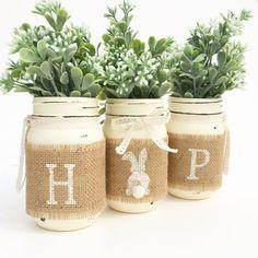 HOP Mason Jar Set Spring Mason Jars Easter by MidnightOwlCandleCo
