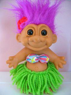 troll dolls | Hawaiian Troll Doll by Russ by HaveMerci on Etsy