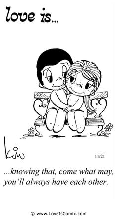 Love is. Number one website for Love Is. Funny Love is. pictures and love quotes. Love is. comic strips created by Kim Casali, conceived by and drawn by Bill Asprey. Everyday with a new Love Is. Love Is Cartoon, Love Is Comic, Life Quotes Love, Me Quotes, Qoutes, Crush Quotes, Woman Quotes, Quotations, Love My Husband
