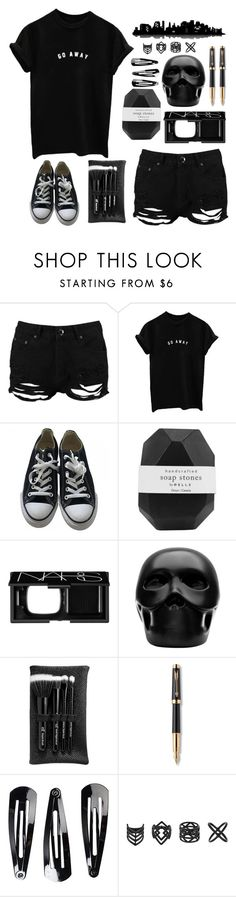 """//a long way to go//"" by trebleclefcat82 ❤ liked on Polyvore featuring Boohoo, Converse, Pelle, NARS Cosmetics, Gio Pagani, e.l.f., Parker, NLY Accessories, Topshop and Universal Lighting and Decor"