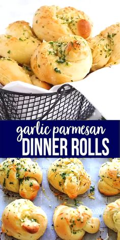 Homemade garlic Parmesan dinner rolls are the best dinner rolls ever. This recipe is so easy with cotton soft rolls topped with garlic and Parmesan cheese. So good! Baking Recipes For Kids, Cooking Recipes, Recipes With Bread, Baking For Beginners, Kitchen Recipes, Easy Cooking, Homemade Dinner Rolls, Dinner Rolls Easy, Homemade Dinners