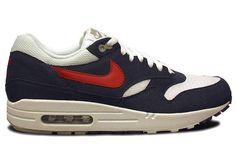 Feeling the Olympic Spirit - USA! USA!  Nike Air Max 1 - Red / White - Navy | KicksOnFire