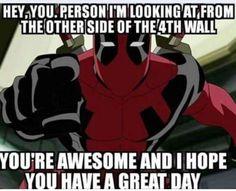 Thanks, Deadpool! :)