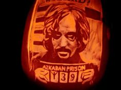 I so want to carve this for my pumpkin. Halloween Patterns, Halloween Crafts For Kids, Couple Halloween Costumes, Halloween Pumpkins, Harry And Hermione, Harry Potter, Prisoner Of Azkaban, Sirius Black, Pumpkin Carving