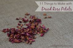 For some unknown reason, I wanted to try making things with dried roses. Something about them seems so beautiful and luxurious. Plus, I love the way dried roses look. Rustic style is always my favorite. Dried Rose Petals, Flower Petals, Dried Flowers, Homemade Gifts, Diy Gifts, Rose Petal Uses, Drying Roses, How To Make Rose, Mountain Rose Herbs