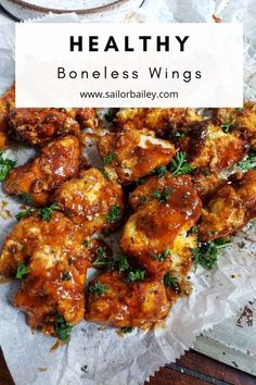 BBQ boneless wings kids and husband approved. Made with a light gluten free breading and much healthier than your average deep fried wings. Ready in 20 minutes.