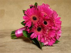 Cerise pink Gerbera bouquet. - Highgate Florist & Growers (sorry its like yours rach but i do love them :) )