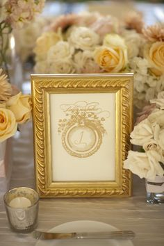 Gold calligraphy. Photography by frphoto.com/, Event Planning   Design by goldenchicevents.com