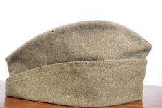 Vintage WW1 Garrison Cap US Army Hat Khaki Wool Size 7 by LittleRiverVintage on Etsy