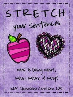Help new writers bring life to their ideas by stretching sentences!