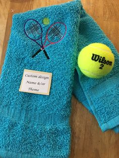 A personal favorite from my Etsy shop https://www.etsy.com/listing/400413829/personalized-tennis-towel