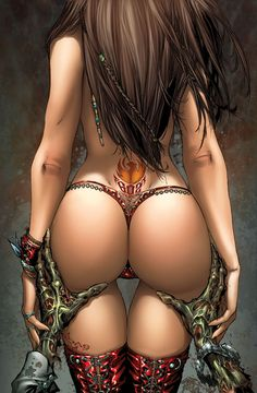Pin-up - 24817 - Obesia Scott Campbell, Boris Vallejo, Hot Lingerie, Fantasy Women, Fantasy Girl, Dark Fantasy, Girl Cartoon, Cartoon Art, Cartoon Characters