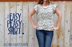 Easy Fast Patterns for Women's Clothes- the Easy Peasy Shirt tutorial {a lemon squeezy home}