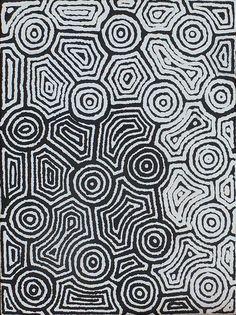 Ngapa Jukurrpa (Water Dreaming) – Mikanji | Warlukurlangu - Artists of Yuendumu