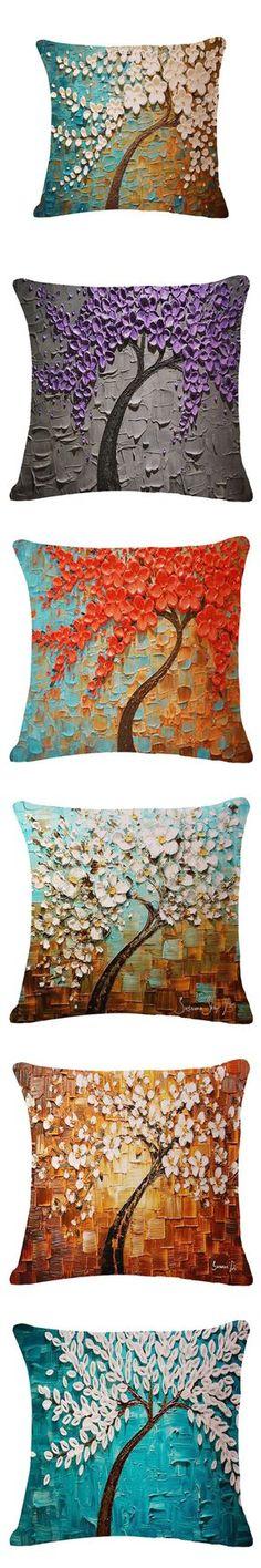 "Pouf 18"" X 18"" 3d Flower Tree Decorative Throw Pillows Kussens Home Decor Cushions Coussin Decoration Cuscini Cojines Almofadas $9.99"