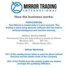 Mirror Trading International Review: Scam or Legit? Find out... - DollarCop Make Money Online, How To Make Money, Sales Presentation, Second Job, Be Honest With Yourself, Multi Level Marketing, I Am Scared, Machine Learning, Online Business