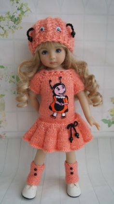 """OOAK OUTFIT FOR DOLLS 13"""" Dianna Effner Little Darling and Betsy McCall 14"""""""