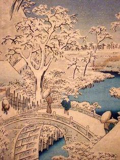 hiroshige woodblock prints | ... by Ando Hiroshige 1857 from series 100 Views of Edo woodblock print