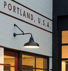 Carson L-Arm Wall Mount Warehouse Wall Fixture | Rejuvenation #TakeItOutside