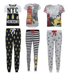 MINIONS LONDON NYC Pyjamas Separates T Shirt Top Leggings Lounge Pant Primark PJ