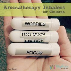 These super nifty DIY essential oil inhalers are safe and portable. Perfect for the kiddos!