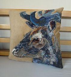 Luxury-John-Lewis-Tetrad-William-Morris-Velvet-Harris-Tweed-Deer-Stag-Cushion
