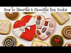Flour Box Bakery has hand-iced decorated cookie gifts and favors, how-to cookie decorating video tutorials, and professional and affordable decorating supplies. Valentines Day Cookies, Valentine Treats, Cookie Box, Cookie Gifts, Heart Cookies, Iced Cookies, Sugar Cookie Icing, Sugar Cookies, Chocolates