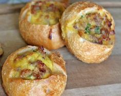 Sausage and Egg-Stuffed Sourdough Breakfast Rolls
